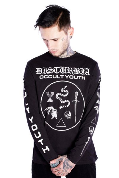 DISTURBIA CLOTHING (ディスタービア・クロージング) OCCULT YOUTH Black