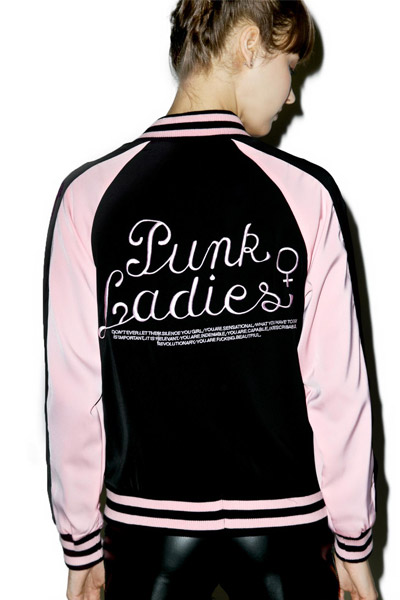 DISTURBIA CLOTHING (ディスタービア・クロージング) PUNK LADIES BOMBER