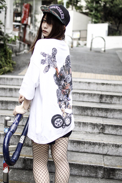 【ゲキクロ限定】a​c​O​l​a​S​i​a Machinery Mouse BIG TEE WHITE