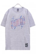 RIP DESIGN WORXX ピンストロゴTシャツ ASH WHITE