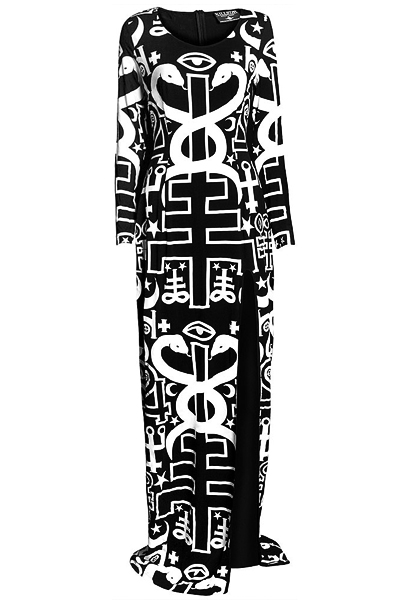 KILL STAR CLOTHING SPIRITUS L/S MAXI DRESS [B]