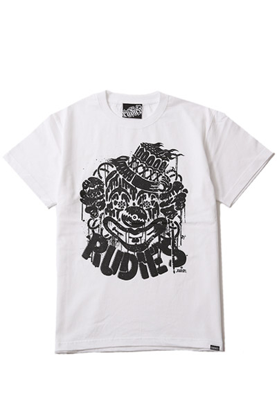 RUDIE'S CLOWN TEE WHITE