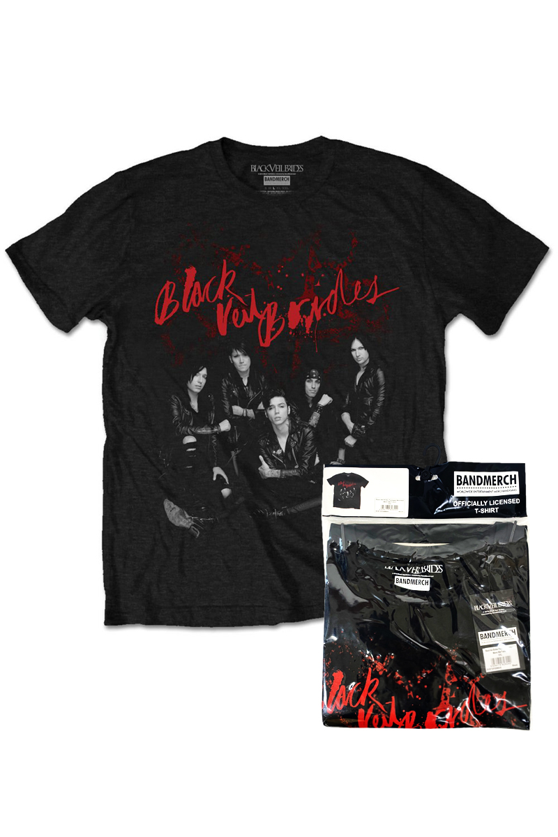 BLACK VEIL BRIDES UNISEX TEE: WOUNDED (RETAIL PACK)