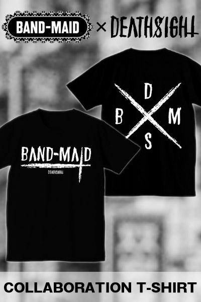 BAND-MAID×deathsight コラボデザインTEE BLACK