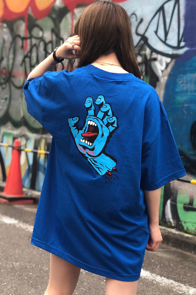 SANTA CRUZ SCREAMING HAND S/S REGULAR T-SHIRT ROYAL BLUE