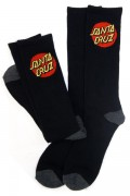 SANTA CRUZ CRUZ SOCKS CREW BLACK