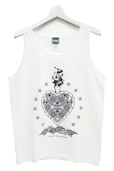 GoneR Mexican Heart Tank-Top White