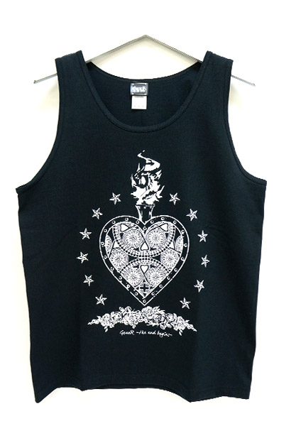 GoneR Mexican Heart Tank-Top Black/White