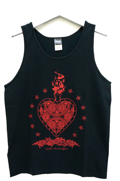 GoneR Mexican Heart Tank-Top Black/Red