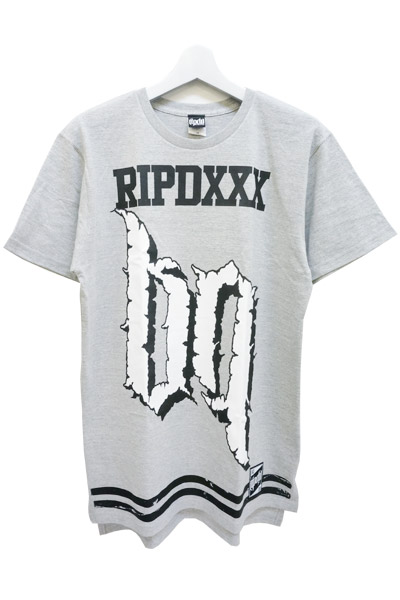RIP DESIGN WORXX Number69 LONG LENGTH T-SHIRT GRY