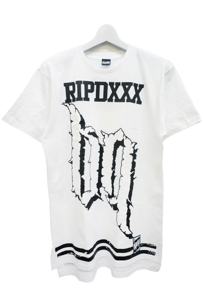 RIP DESIGN WORXX Number69 LONG LENGTH T-SHIRT WHT