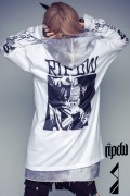 RIP DESIGN WORXX ホンダソウイチコラボ『僵尸』L/S Tシャツ WHITE