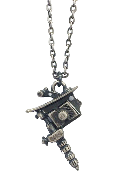 NineMicrophones METAL NECKLACE-TATTOOMACHINE-A.SIL