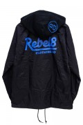 REBEL8 PREMIUM SCRIPT II HOODED COACHES JACKET BLACK