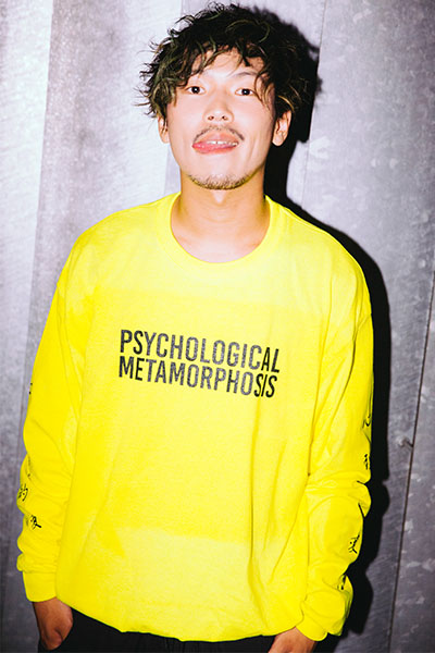 PSYCHOLOGICAL METAMORPHOSIS PLMP  L/S LOGO 2(NEW COLOR) YELLOW