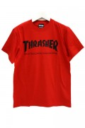 THRASHER TH8101 MAG LOGO TEE RED/BLK