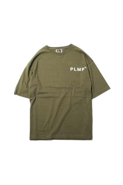 PSYCHOLOGICAL METAMORPHOSIS PLMP POCKET WIDE TEE OLIVE
