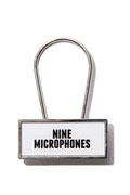 NineMicrophones key holder WHITE/BLACK