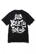 Subciety (サブサエティ) TAG S/S BLACK