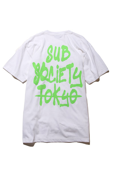 Subciety (サブサエティ) TAG S/S WHITE/GREEN