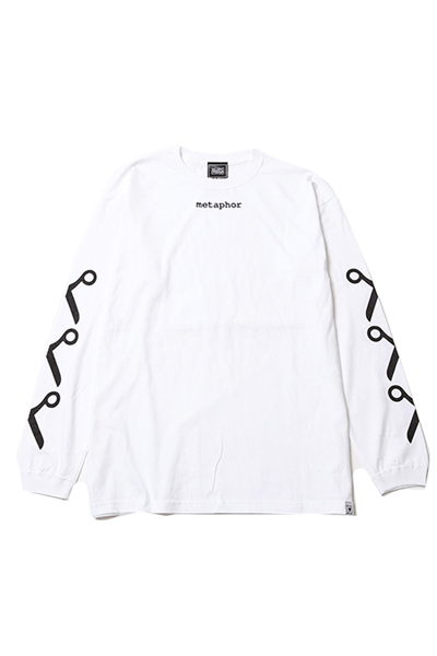 SILLENT FROM ME METAPHOR -Long Sleeve- White