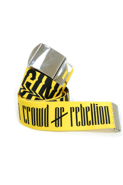 【ゲキクロ限定・予約商品】 a crowd of rebellion Gingerol Belt Yellow