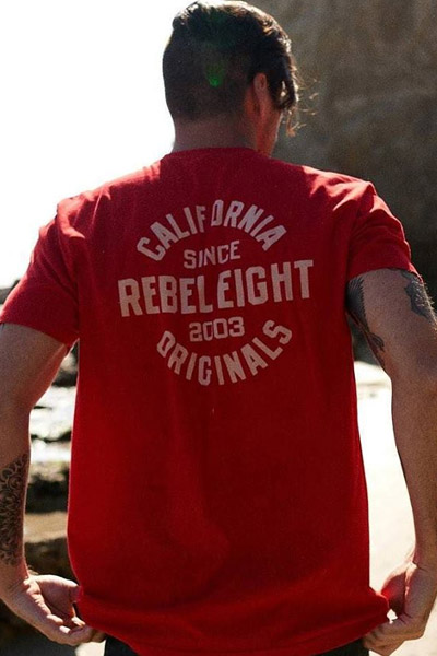 REBEL8 Enduring Soft Tee RED