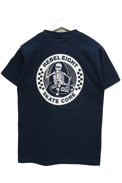 REBEL8 SKATE CORE NAVY TEE