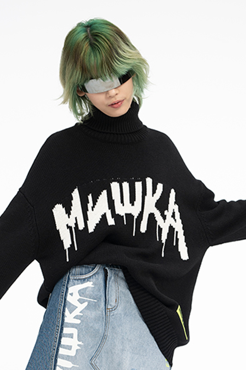MISHKA MAW200377 KNIT BLACK