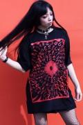 ガリュウホンポ 円周率Tシャツ 黒×赤×赤