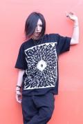 ガリュウホンポ 円周率Tシャツ 黒×白×赤