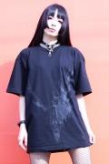 ガリュウホンポ 鹿Tシャツ 黒×黒