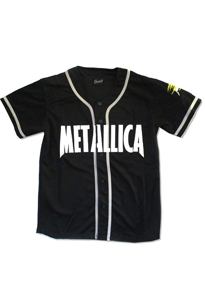METALLICA 1981-Authentic Button Down Baseball Jersey