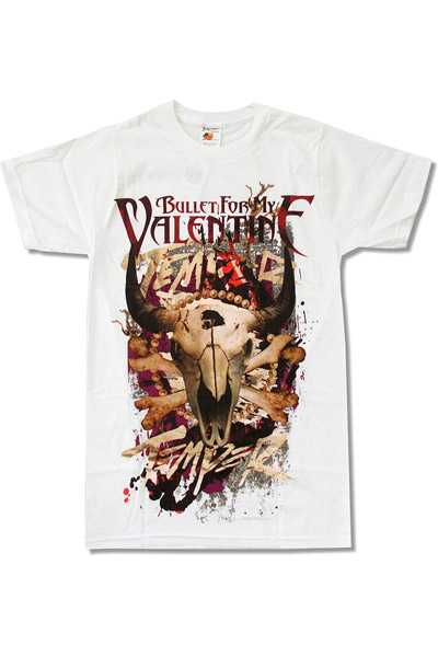 BULLET FOR MY VALENTINE Mad Cow-White Lightweight t-shirt