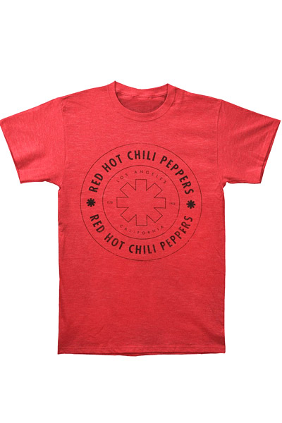 RED HOT CHILI PEPPERS Wheel Outline-Red t-shirt