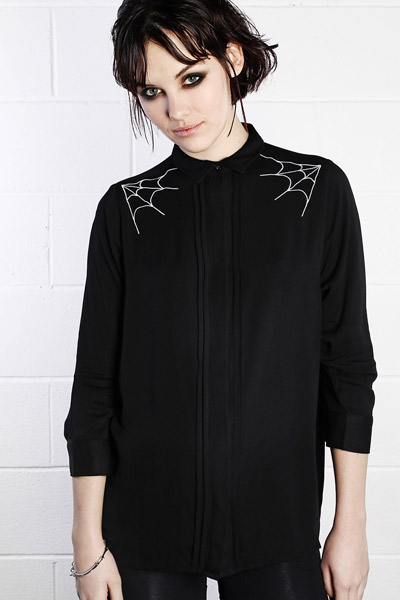 DISTURBIA CLOTHING WEB SHIRT