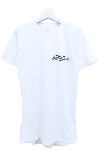 STAY SICK CLOTHING New Script Tall White