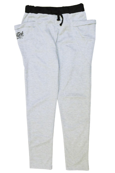STAY SICK CLOTHING Stay Sick New Script Heather Grey Skinny Jogger Pants