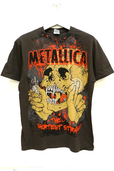 METALLICA Brown Straw Jumbo print t-shirt