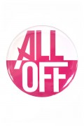 ALL OFF Big Can Badge -Logo-