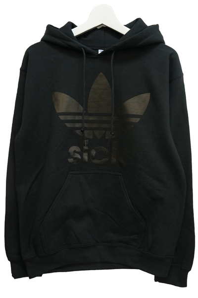 STAY SICK CLOTHING Sport Black on Black Pullover