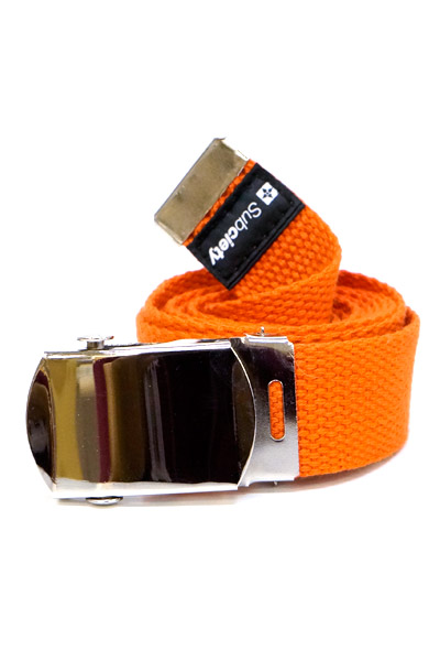 Subciety (サブサエティ) LONG WEB BELT ORANGE