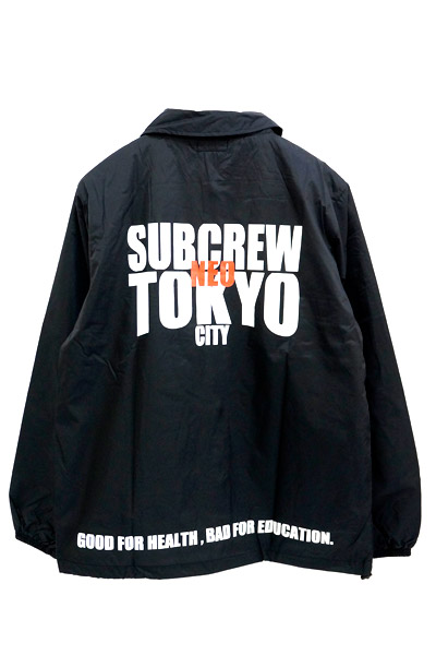 Subciety (サブサエティ) COACH JACKET-BAD HABIT- BLACK