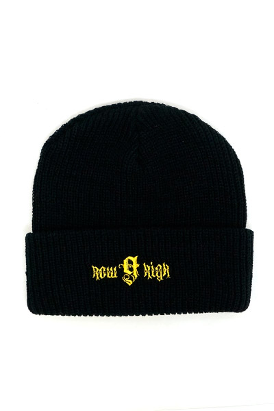 NineMicrophones WATCHCAP-howhigh- BLACK-YELLOW