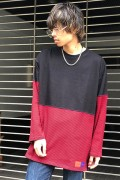 PARADOX PX16-LS04 BORDER L/S TEE(RED)