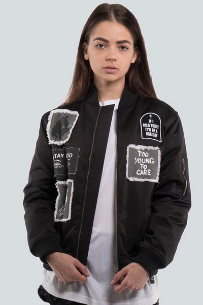 DROP DEAD CLOTHING LADIE'S Stay Dead Bomber