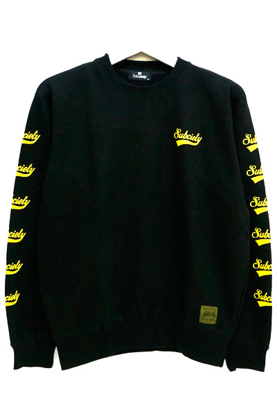 Subciety (サブサエティ) SWEAT-GLORIOUS- BLACK