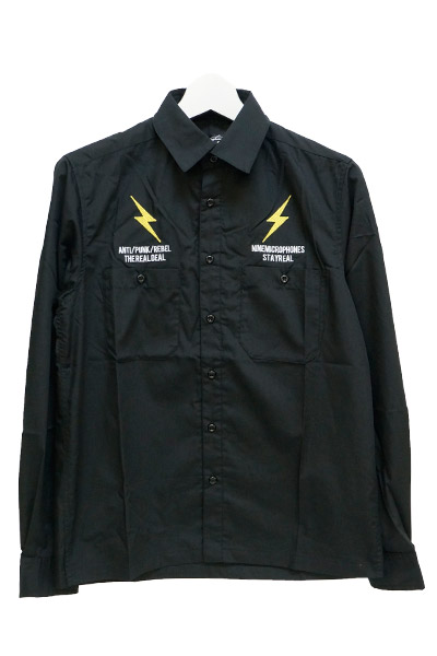 NineMicrophones WORK SHIRT L/S-ANTI- BLACK