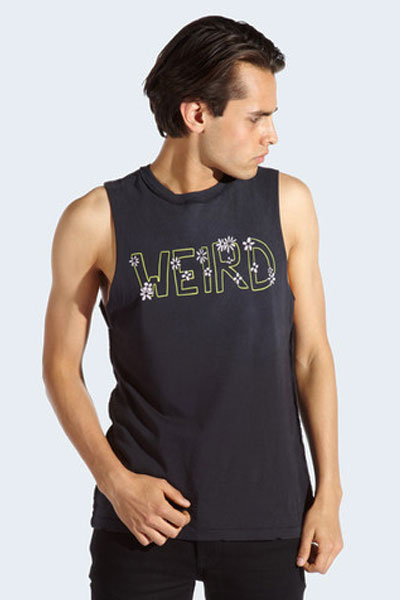 DROP DEAD CLOTHING WEIRD SLEEVELESS T-SHIRT