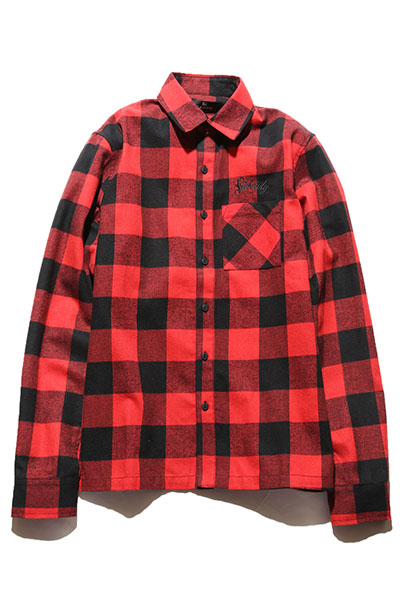 Subciety (サブサエティ) CHECK SHIRT-PRIMAL-RED